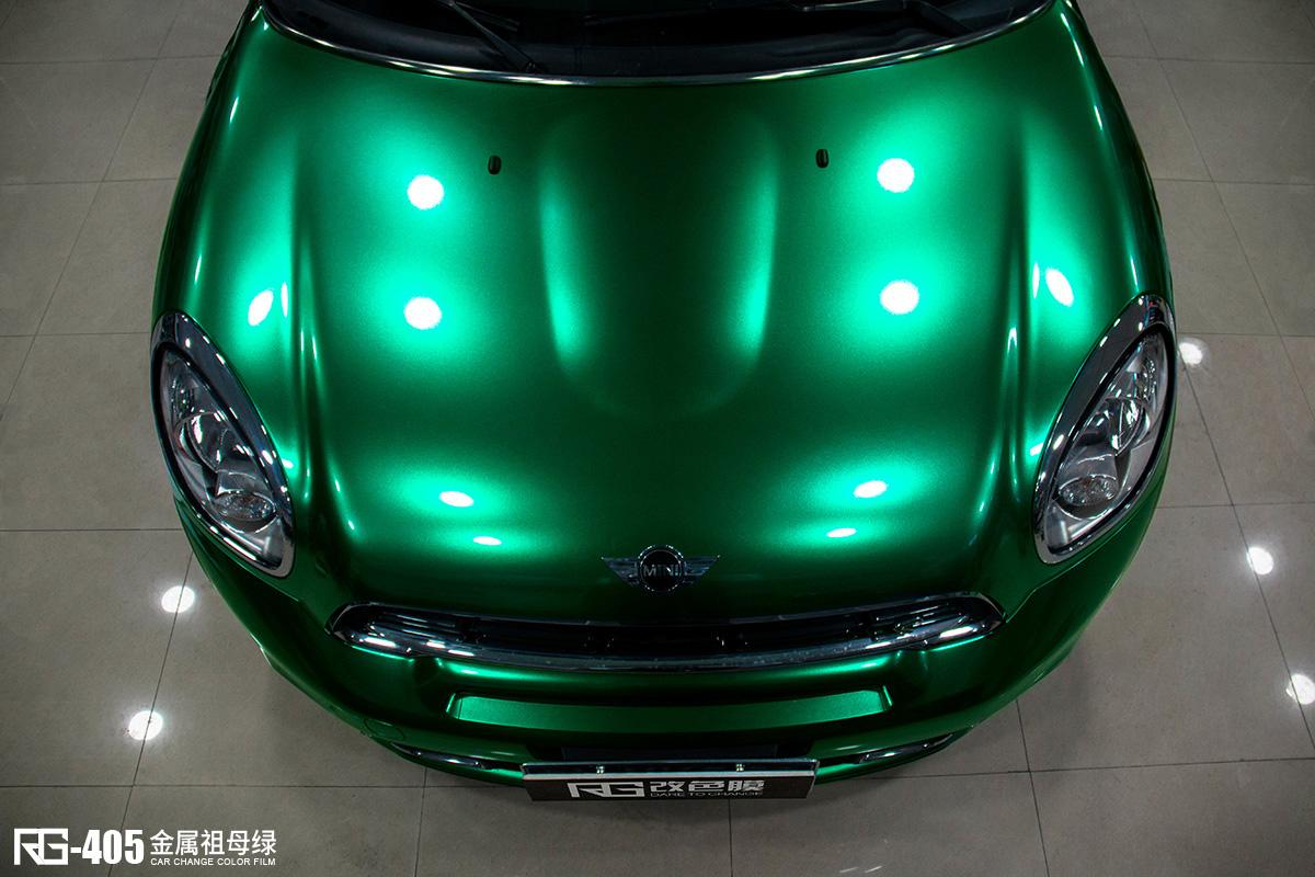 现代朗动_宝马MINI汽车改色贴膜金属祖母绿