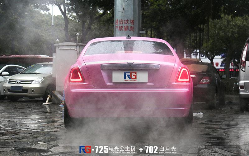 劳斯莱斯古斯特汽车改色,劳斯莱斯车身改色,汽车改色加盟,RG瑞集汽车改色贴膜,汽车改色培训